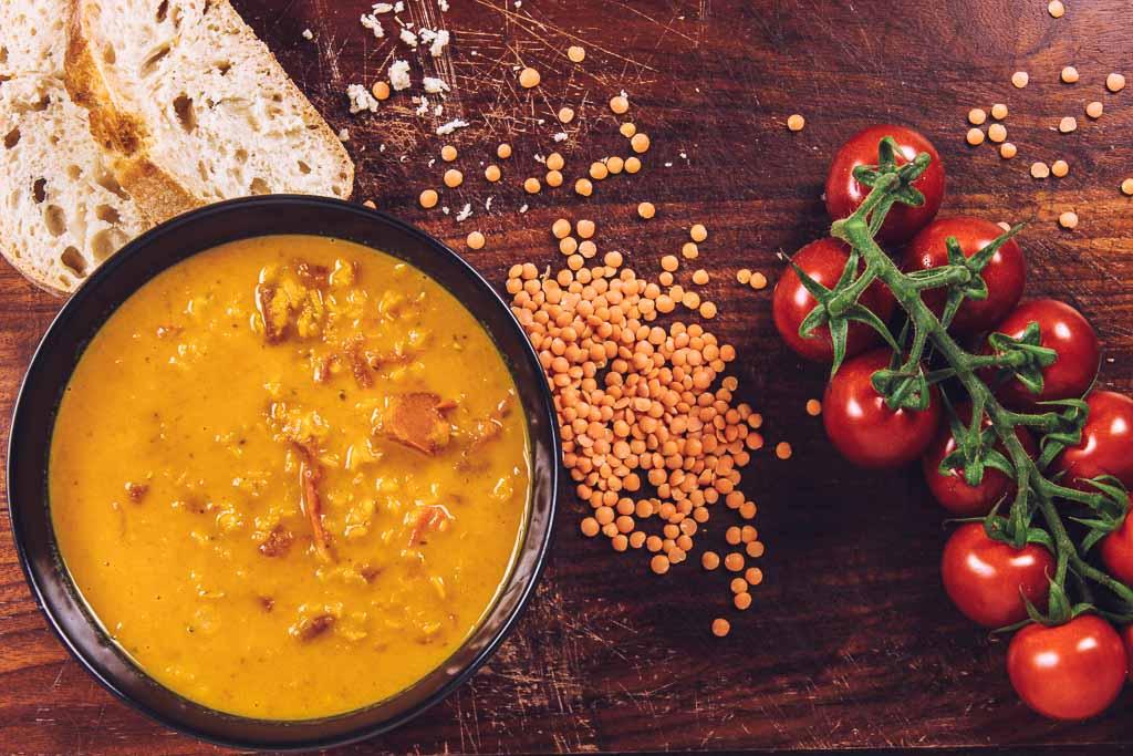 Schnelle Kokos Linsen Suppe