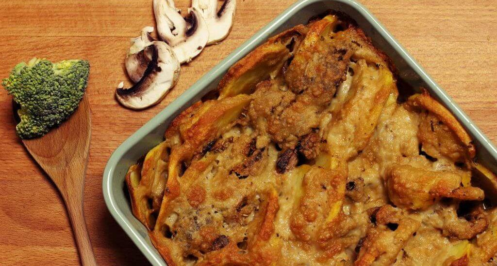 Schmackhafter Brokkoli Kartoffel Auflauf