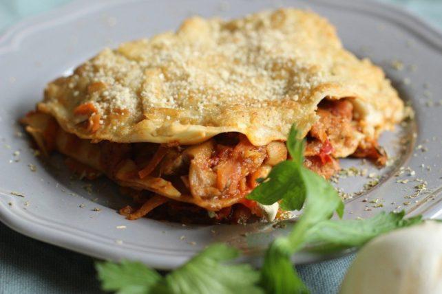 Vegane Lasagne mit Sojahack
